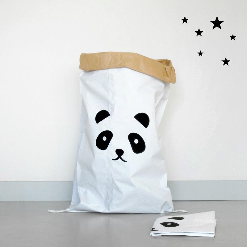 Tierische Adventszeit - Der coole Papiersack im Panda-Design