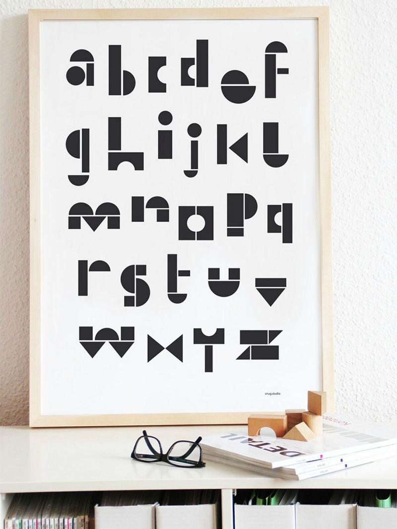 Snug.ABC Poster - Der Siebdruck für Typolover