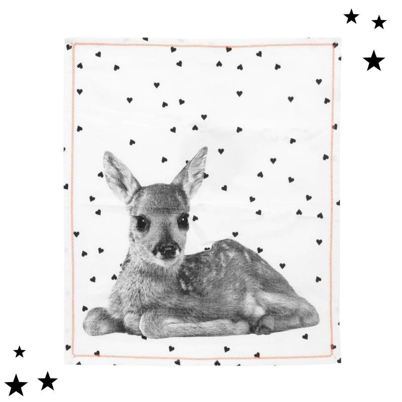 Tierische Adventszeit - Das zuckersüße Tea Towel Hearts Deer
