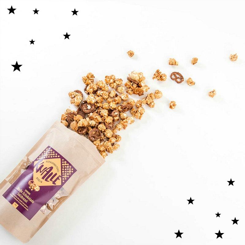 Entspannte Festtage mit Stil - Knalle Popcorn Schokolade Salzbrezel