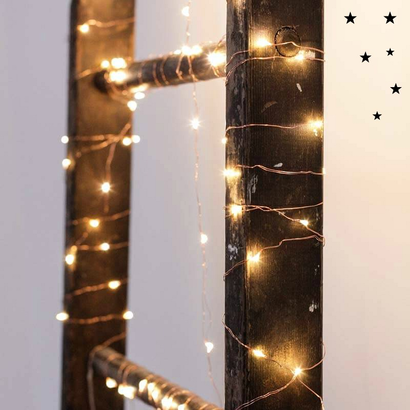 Entspannte Festtage mit Stil - Lichterkette Copper String Lights