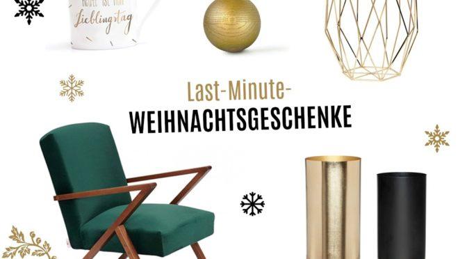 Last Minute-Weihnachtsgeschenke für Designfans