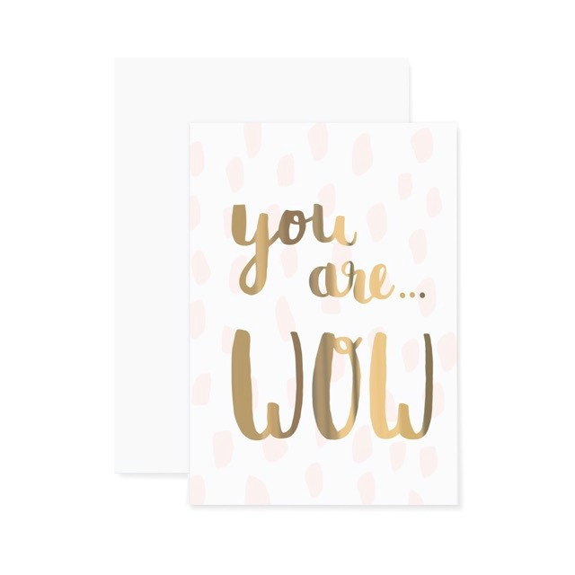 Geschenke zum Muttertag - Klappkarte You are wow von Eulenschnitt