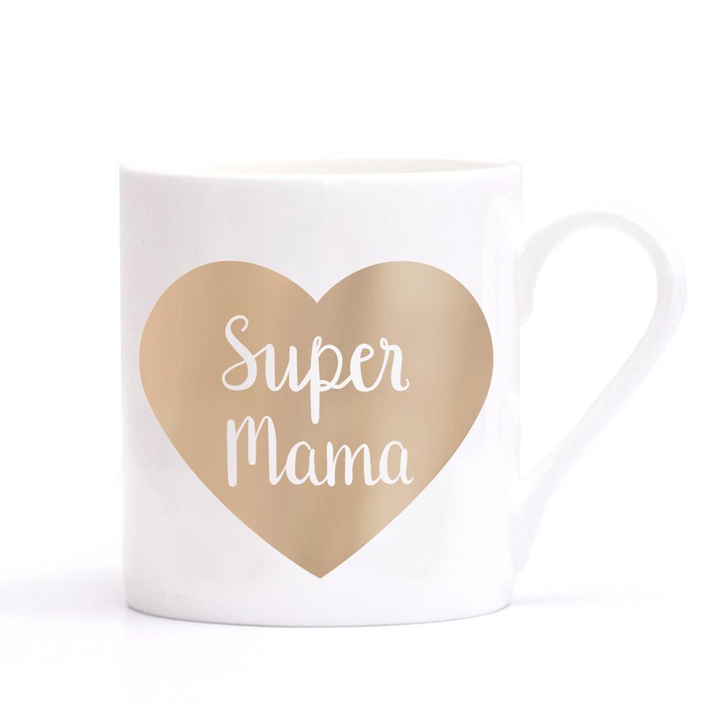 Geschenke zum Muttertag - Tasse Supermama von Eulenschnitt