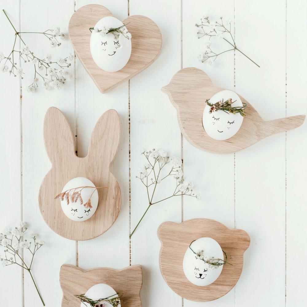 Süße Eierbecher aus Holz von Eulenschnitt – designupdate Shop