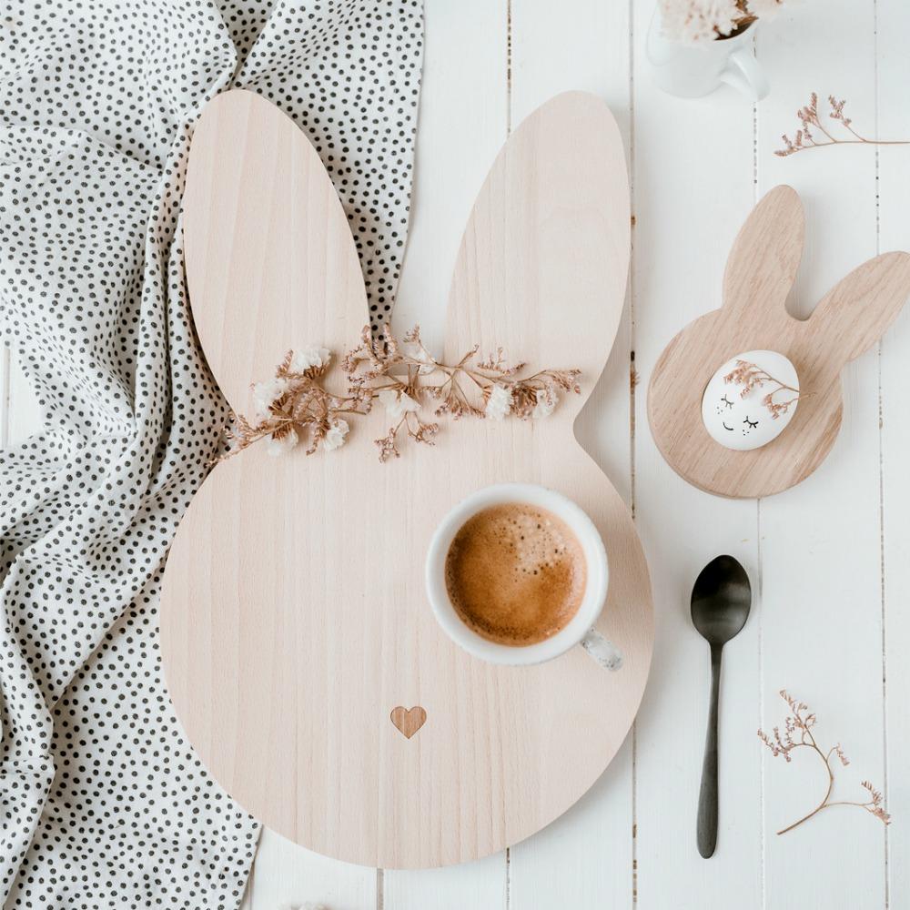 Frühstücksbrettchen Hase von Eulenschnitt – designupdate Shop