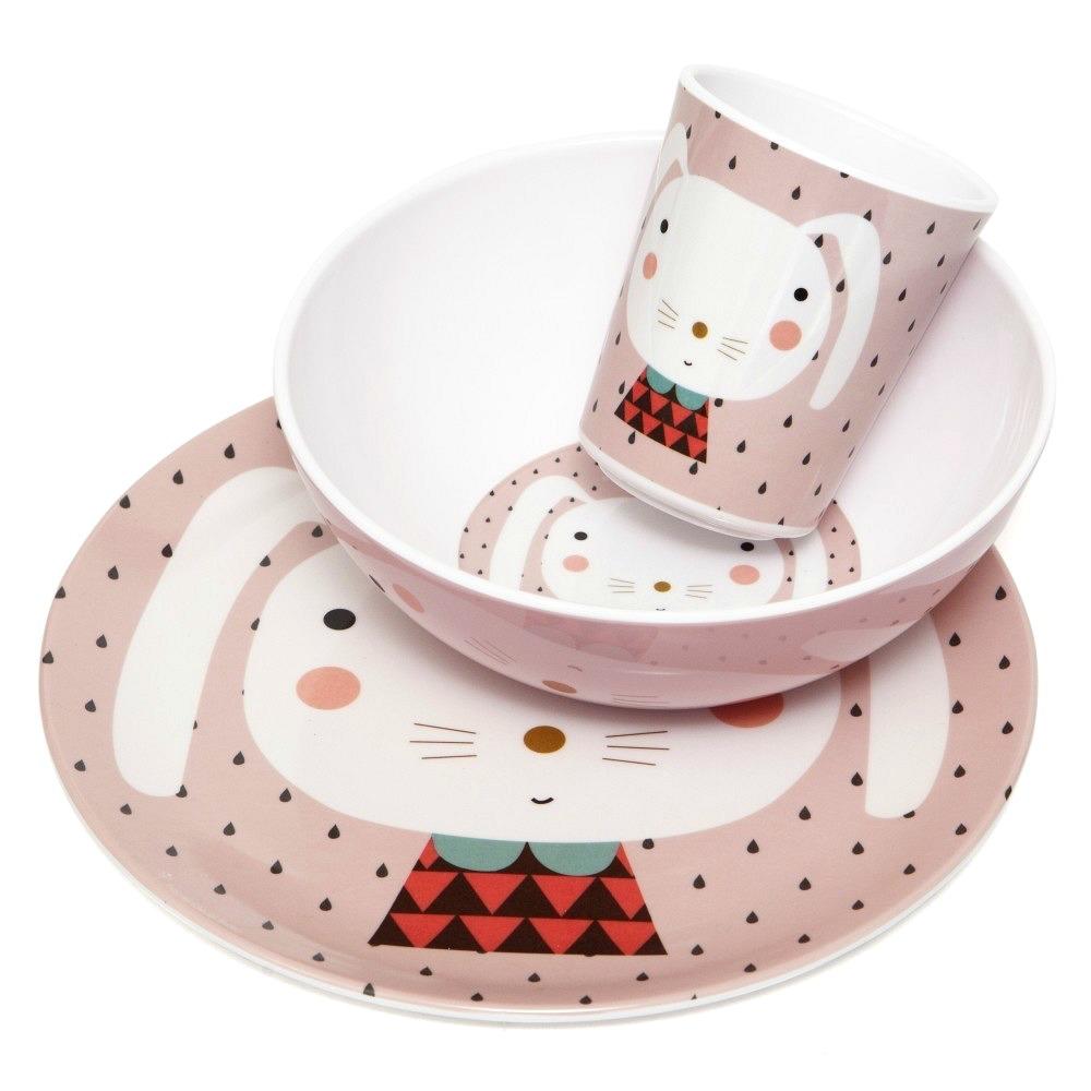 Melamin Kindergeschirr Hase von Petit Monkey – designupdate Shop
